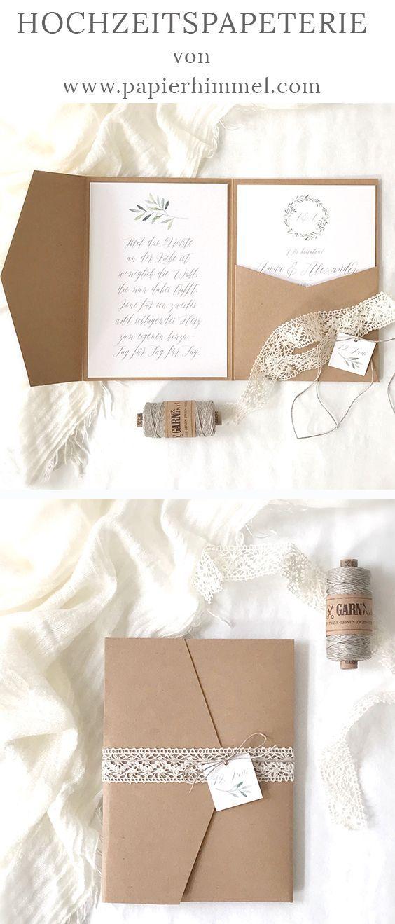 Photo of Invitaciones de boda de papel Kraft: nuevas ideas
