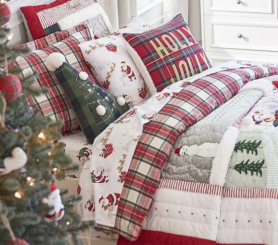 Organic Flannel Morgan Plaid Duvet Cover Christmas
