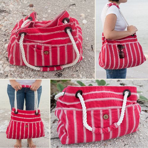 bag tutorial 12 by stitchedbycrystal via flickr i like the way the rope handle is covered. Black Bedroom Furniture Sets. Home Design Ideas
