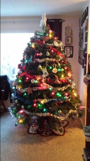 Omg we just set up our Christmas tree it looks fab CHRISTMAS