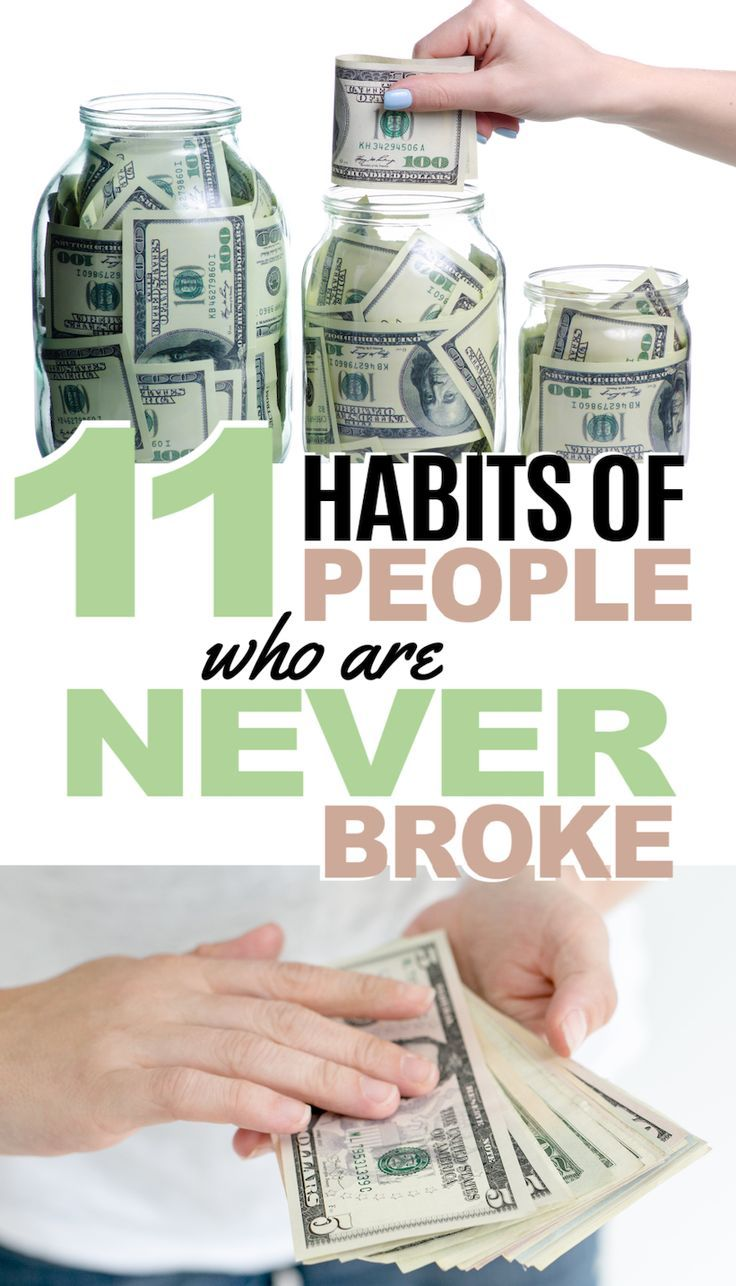 11 Habits Of People Who Always Have Money Money tips