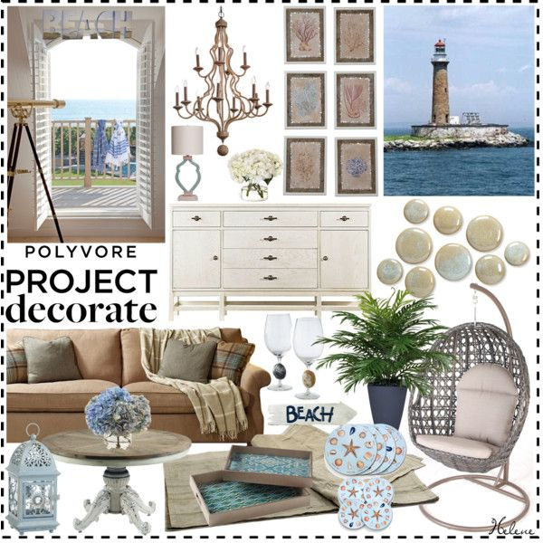 """Project decorate/hanginginthehamptonsbeachhouse"" by helenevlacho on Polyvore"