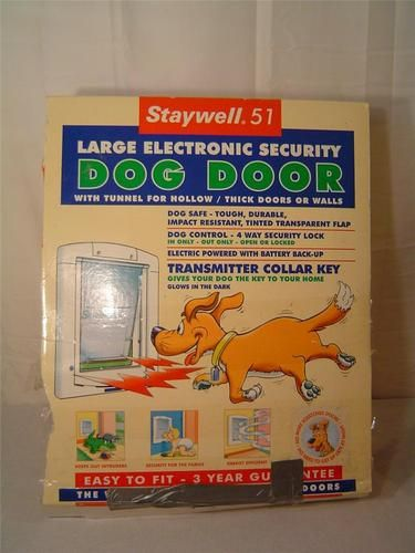 Staywell 51 Large Electronic Security Dog Door W Tunnel For Thick