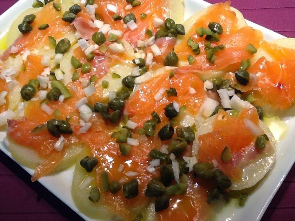 Recetas Por Puntos De Ensalada De Patatas Y Salmon Ahumado Con Imágenes Recetas Con Salmon Ahumado Recetas Con Patatas Ensalada De Patatas