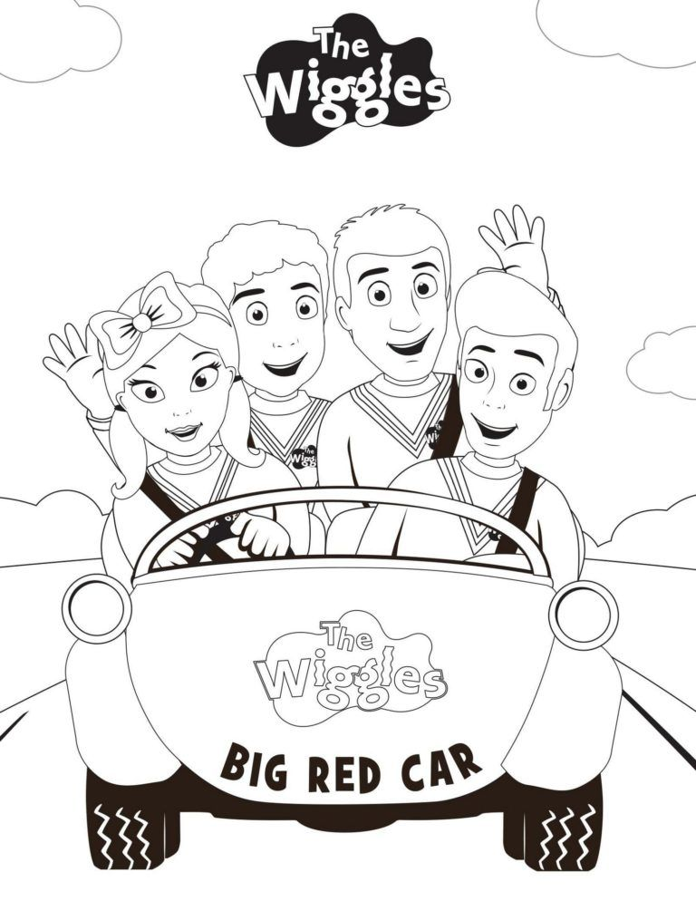 Pretty Awesome Wiggles Coloring Sheet Wiggles Birthday Wiggles Party The Wiggles