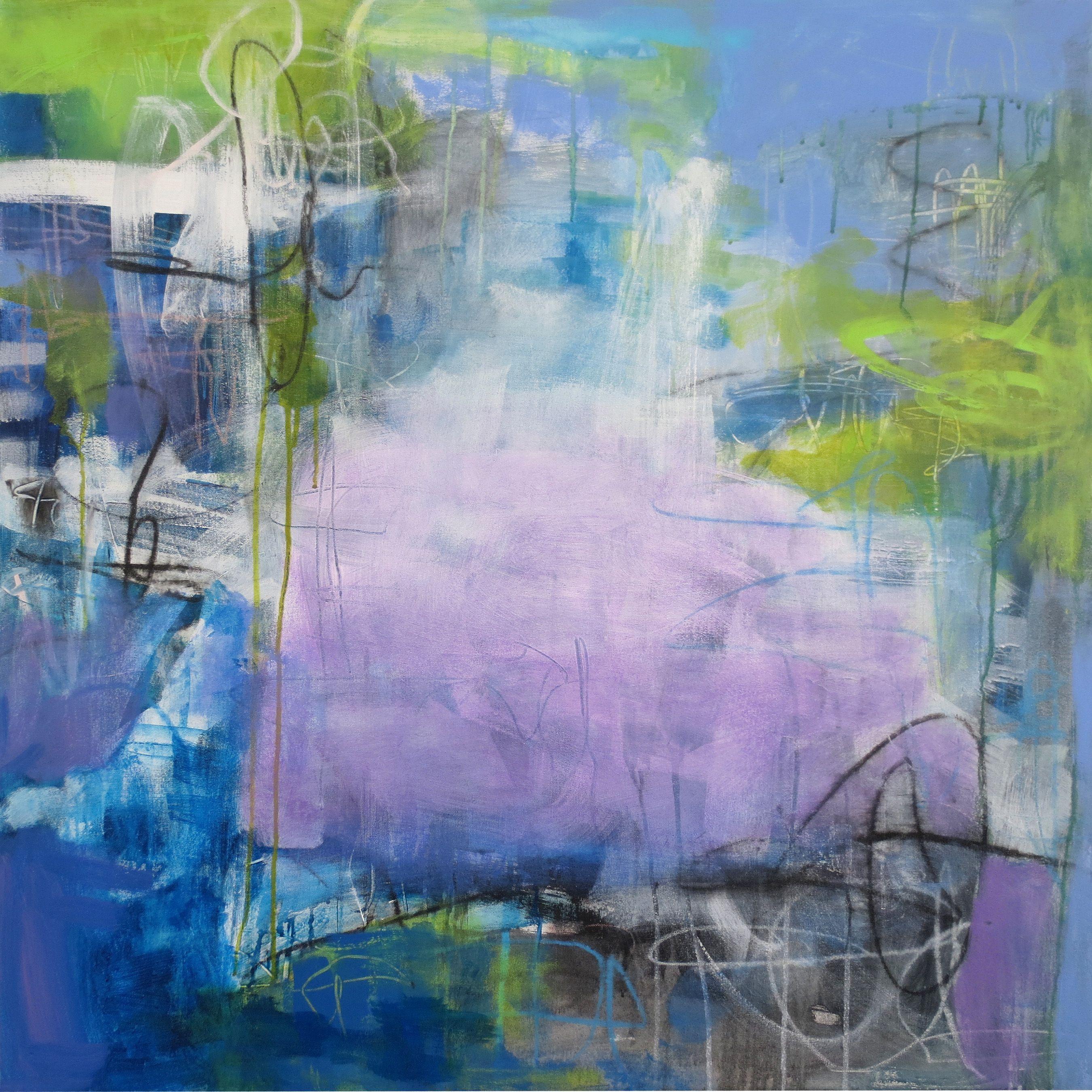 Night Shades. 36 x 36. Linda Ann Weber.