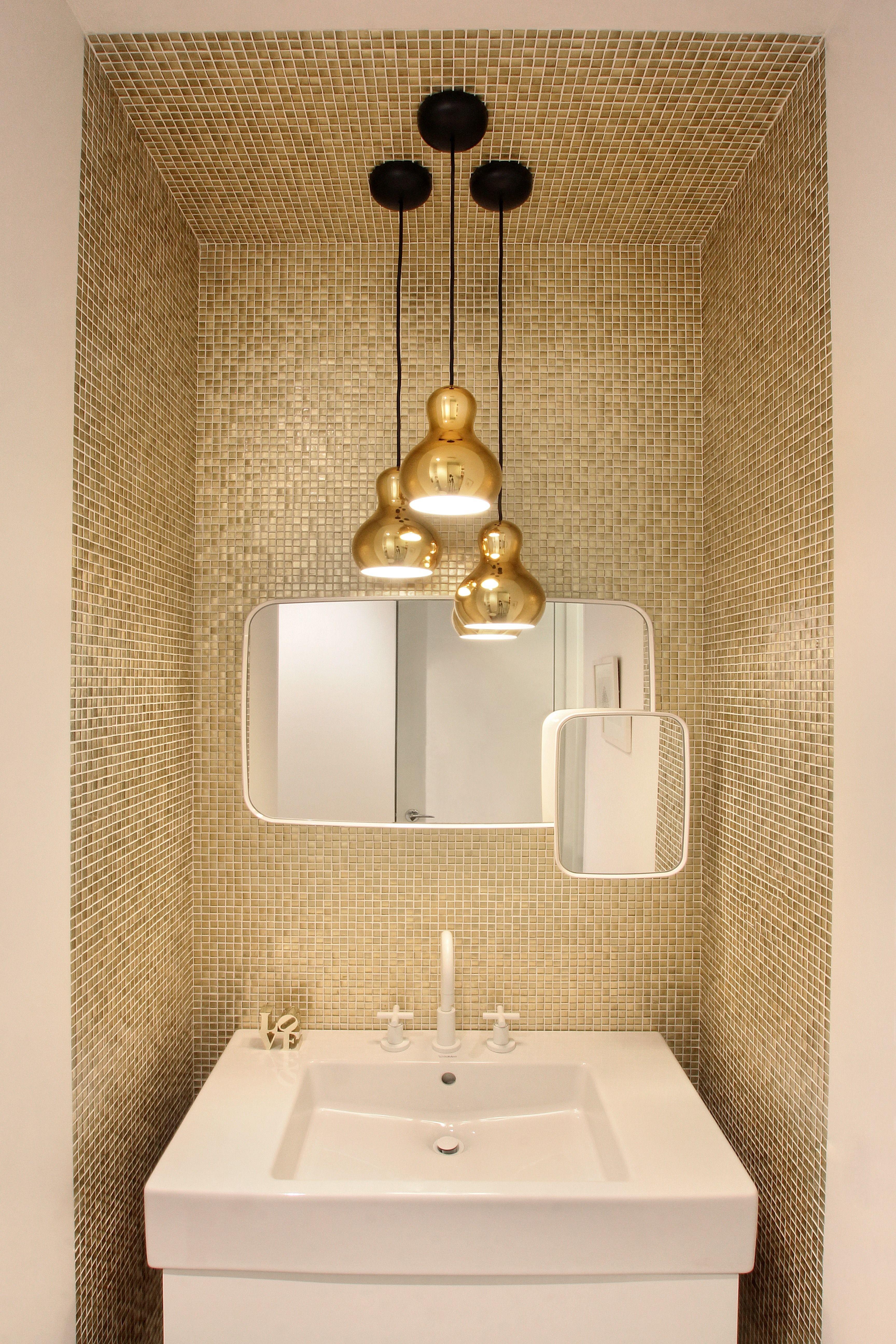 Piastrelle bagno mosaico oro collezione handmade rivestimenti