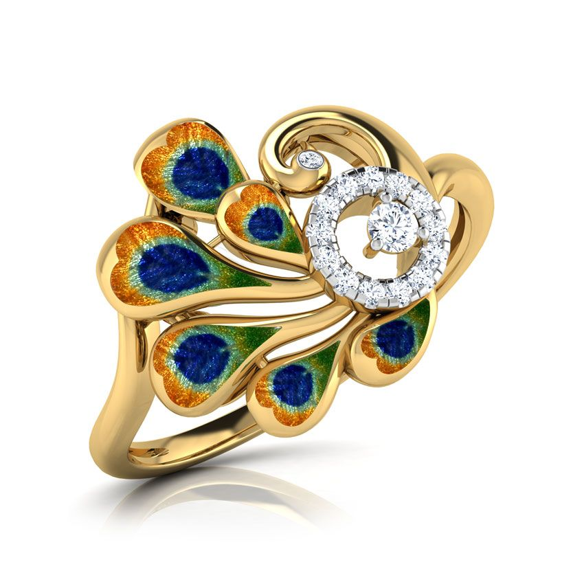 ad4168b29c228 Peacock Feather Ring India Online - CaratLane.com | peacock in 2019 ...