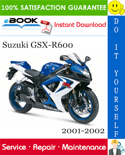 Suzuki Gsx R600 Motorcycle Service Repair Manual 2001 2002 Download In 2020 Suzuki Gsx Gsx Suzuki
