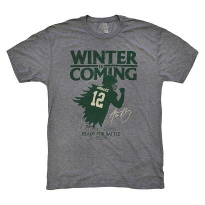 9619e3e05e8 Aaron Rodgers Winter Is Coming Men's T-shirt--had to | Game Night ...