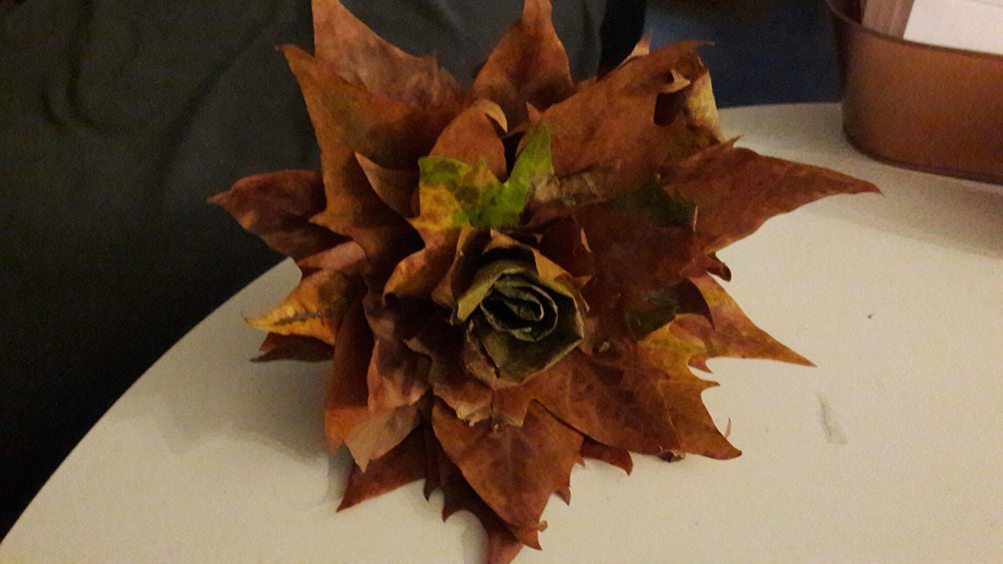 Herbstblätterstraus