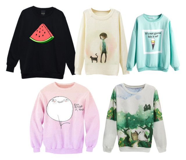 """""""Cute Pullover Sweaters"""" by blondeblogger23 on Polyvore featuring comfy"""