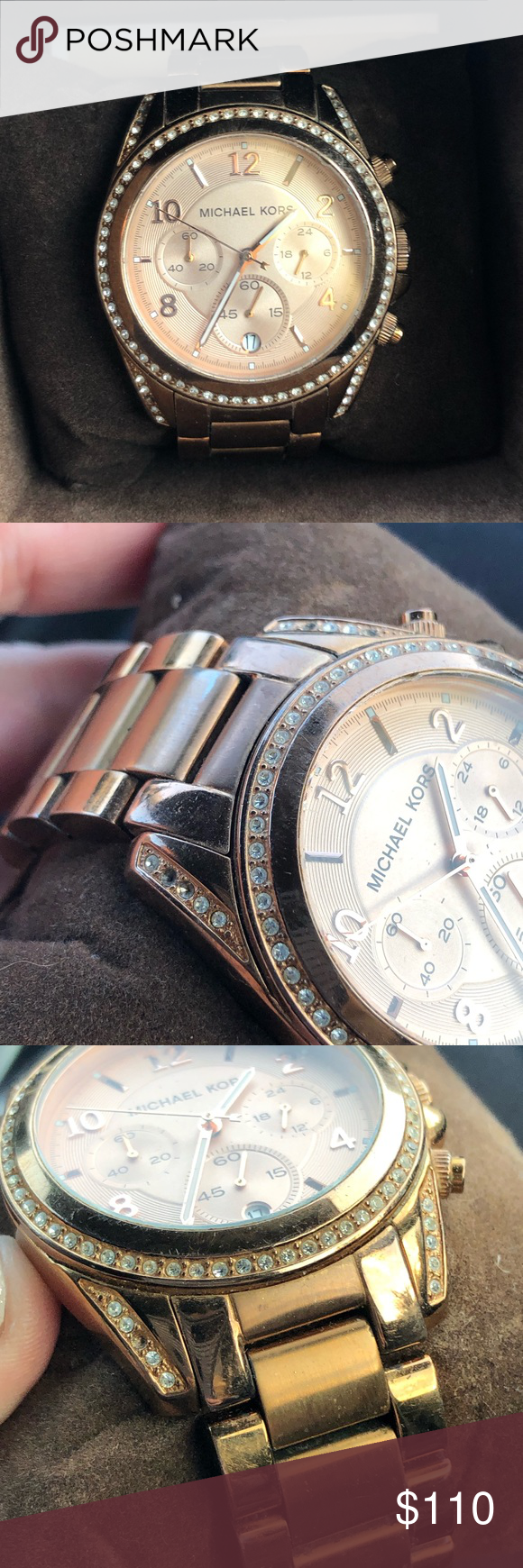 9f3b673111c3 Michael Kors Watch Rose gold Michael Kors Watch. Please see pictures for  flaws. It s has extra spacers and comes with the box. Michael Kors  Accessories ...