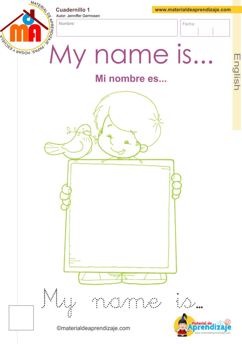 Vistoso Todo Sobre Mí Para Colorear Para El Kindergarten Fotos ...