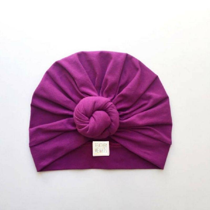 Magenta Top Knot Turban