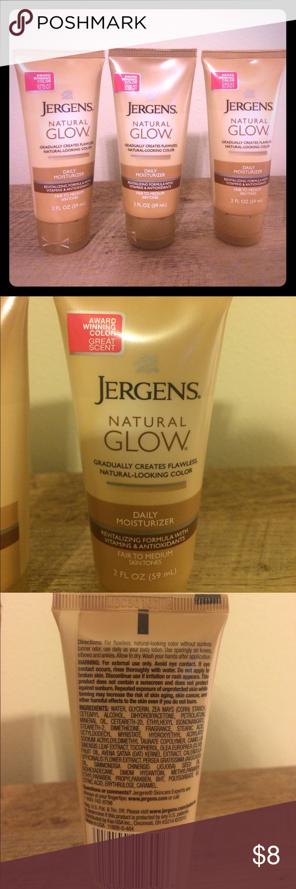 Jergens Natural Glow Lotions Brand New!! Daily moisturizer