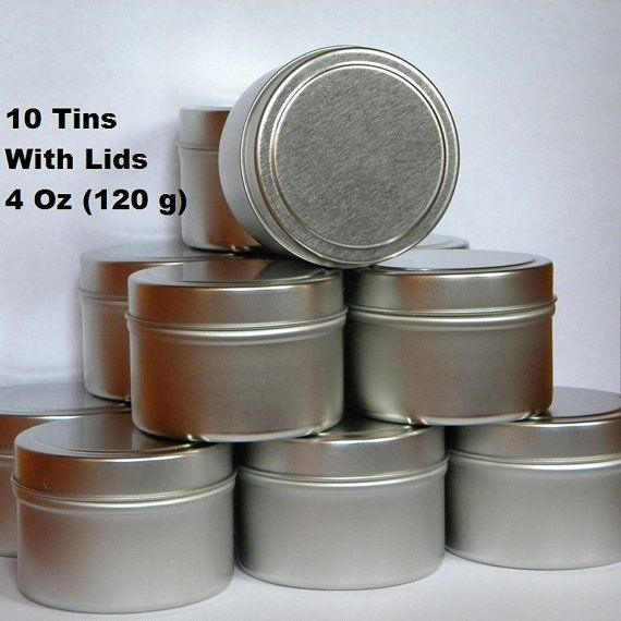 Lot Of 10 Empty Round Silver Metal Tins With Lids These Tin Containers Can Be Used For Multiple Crafting Projects Candles Tin Candles Empty Candle Metal Tins