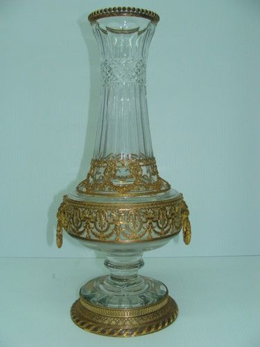 Antique Early 1800s Crystal Bronze Ormolu Vase Ebay Accent