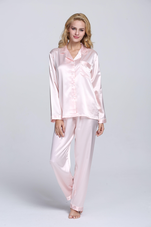 8bcc3a2ff8 Women s classic satin pajama set