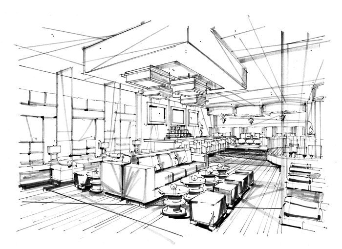 Architectural illustration interior google search for Interior design sketches
