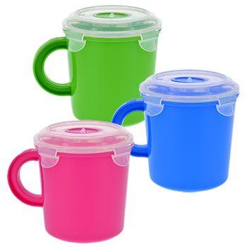 Bulk SureFresh Plastic Soup Mugs with Clip-Lock Lids, 23.5 oz. at ...