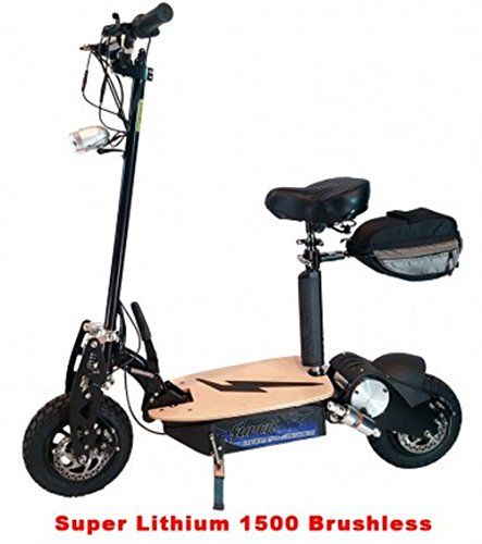 Super Cycles  Scooters  Super Lithium 1500 Brushless  Electric Scooter  2Wheel  Black <3 Clicking on the VISIT button will lead you to find similar product