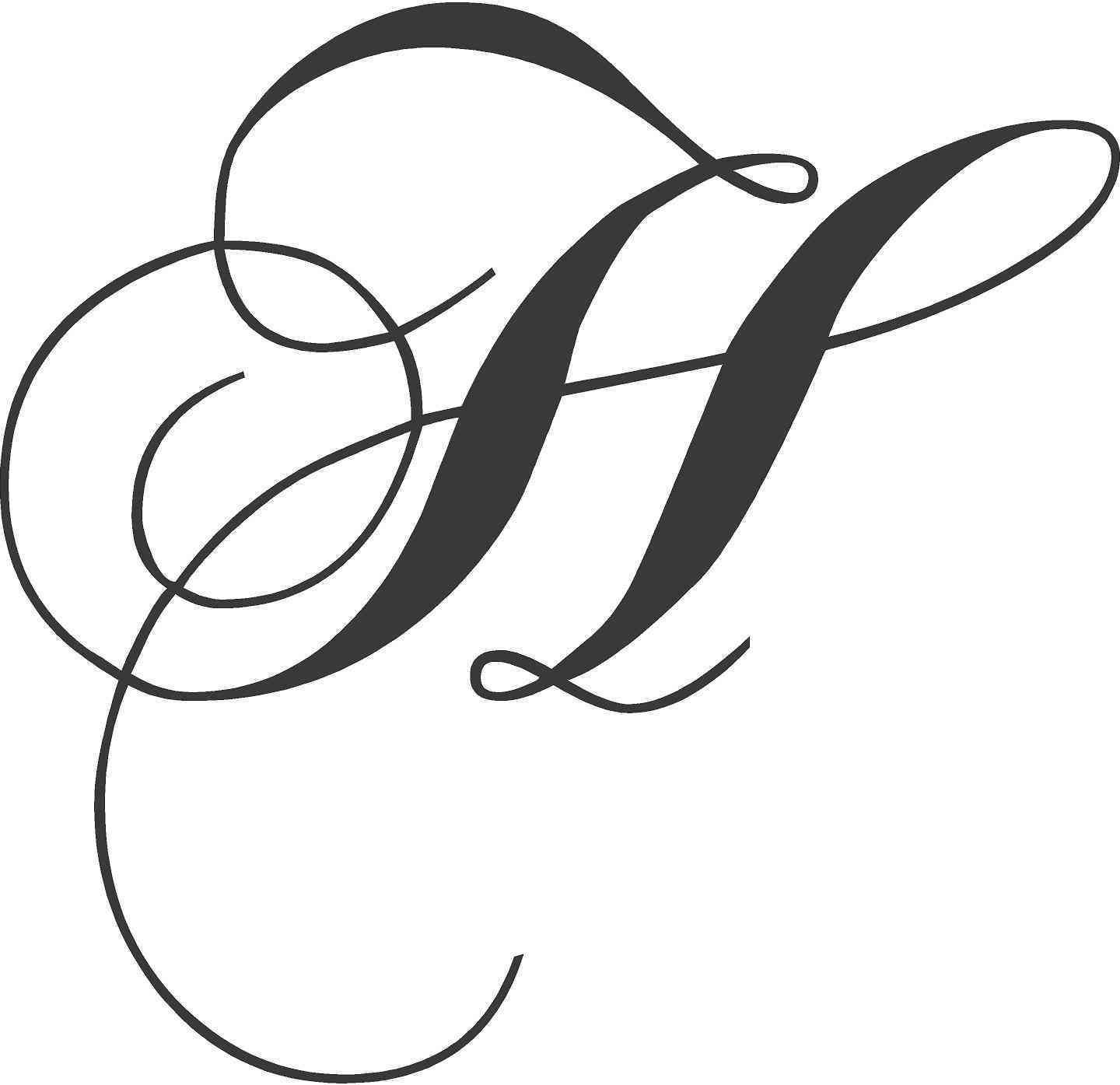 Fancy letter h designs best of elegant fancy cursive ...