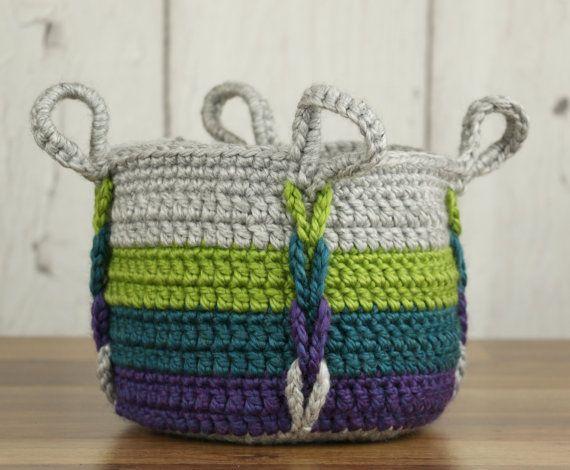 Crochet Pattern Entwined Basket Crochet Pattern Crochet