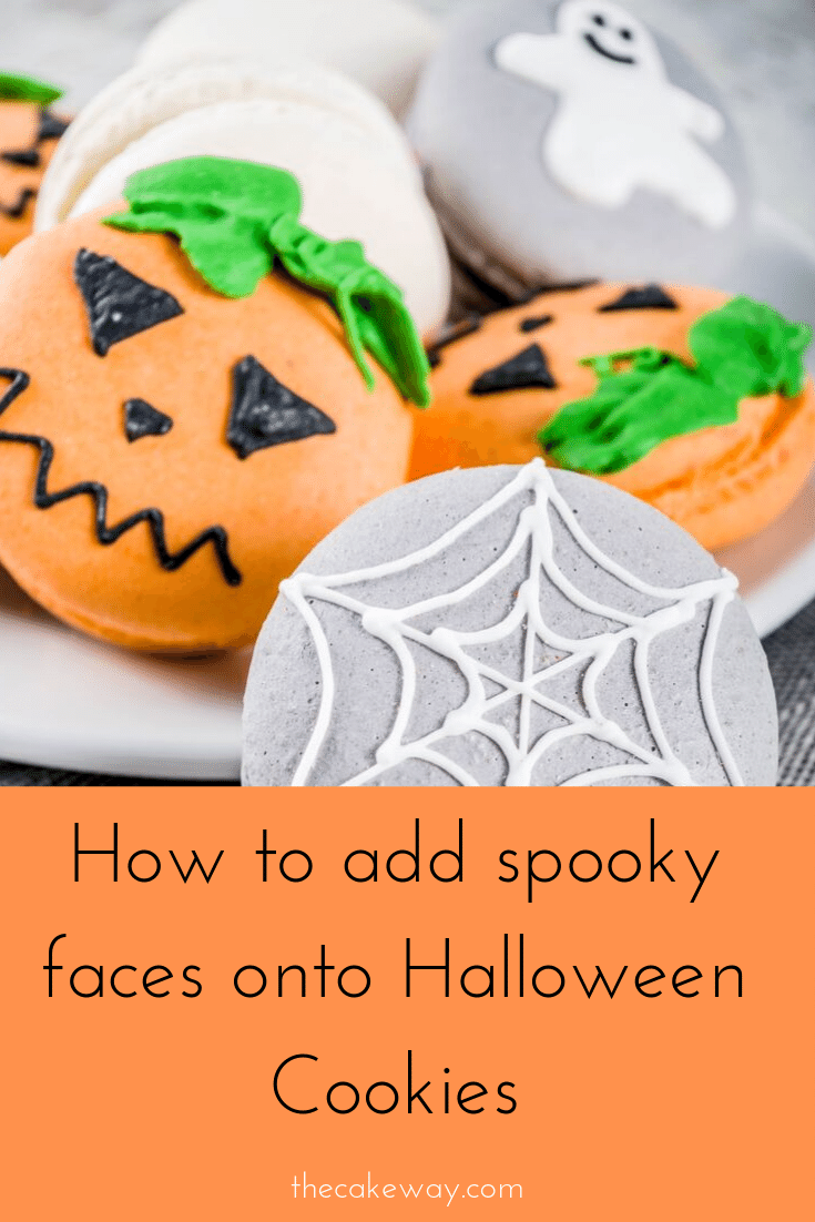 Halloween Cookies Decorated with Spooky Scary Faces #halloweencookiesdecorated How to add spooky faces to create simple, spooky, easy, Halloween cookies decorated with royal icing. Create spooky Halloween cookies that are both easy and scary (not really) for Halloween. #halloweencookiesdecorated #halloweencookies #easyhalloweencookies #royalicingcookies #pumpkincookiesdecorated #halloweencookiesdecorated Halloween Cookies Decorated with Spooky Scary Faces #halloweencookiesdecorated How to add sp #easyroyalicingrecipe