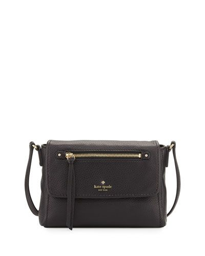 KATE SPADE NEW YORK Kate Spade New York Cobble Hill Mini Toddy Crossbody Bag, Black. #katespadenewyork #bags #shoulder bags #leather #crossbody #lining
