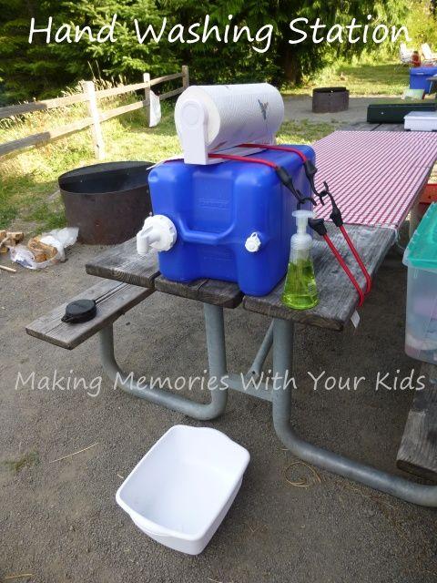 Camping Hand Washing Station Making Memories With Your Kids Camping Hand Washing Station Hand Washing Station Camping Diy Projects