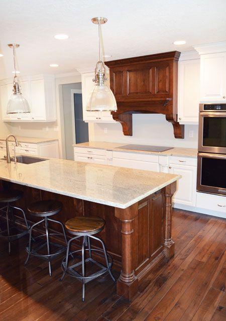 Decorative Kitchen Island Posts White Beadboard Island Range Hood Corbels Kitchen Cabinets Lewis Cu Custom Cabinets Custom Woodworking White Beadboard