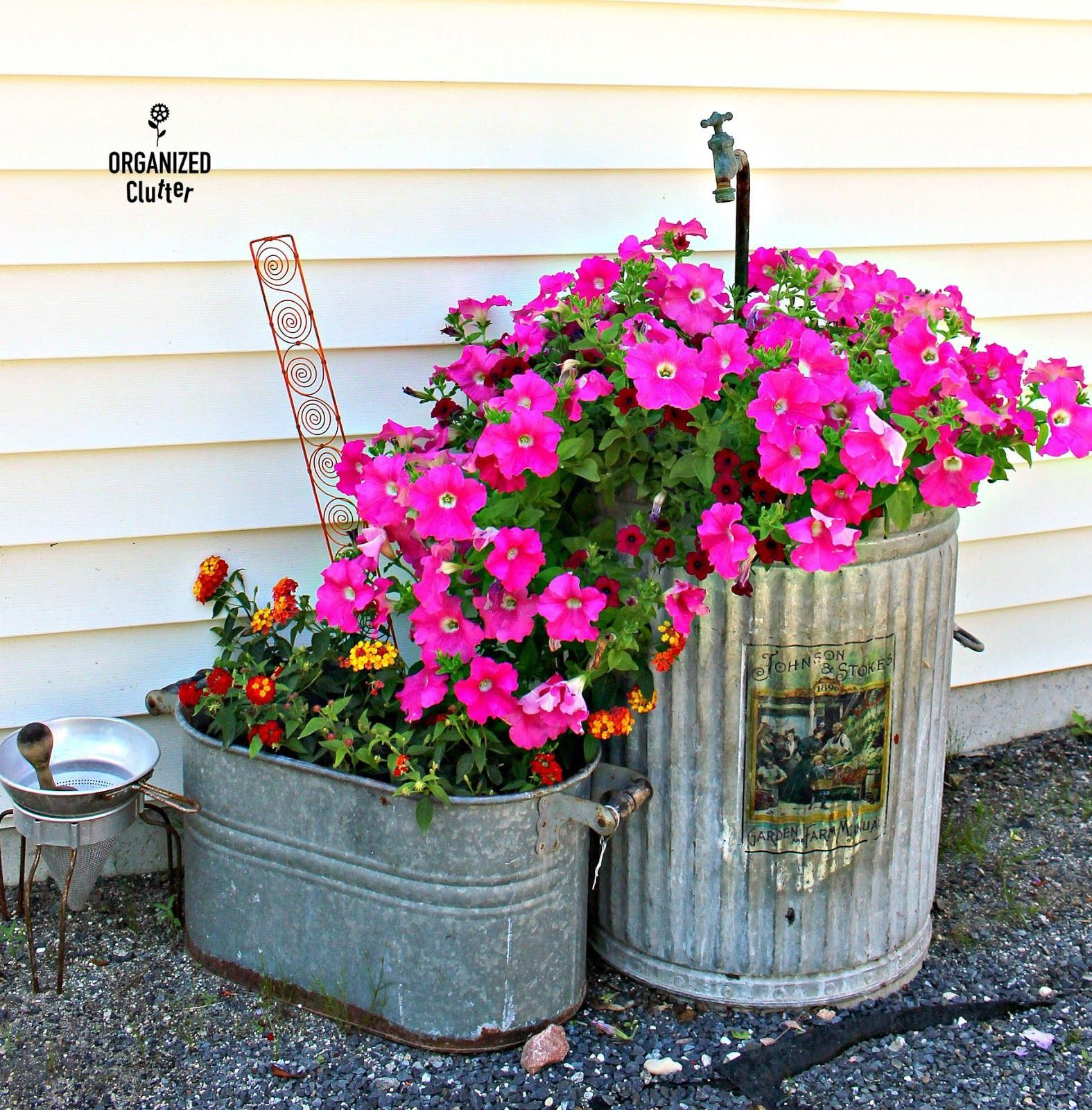 Fun Junk Garden Vignettes From The Yard Of Flowers