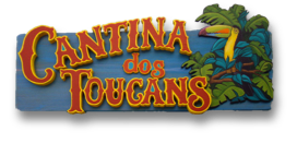 custom cantina dos toucans hand painted sign