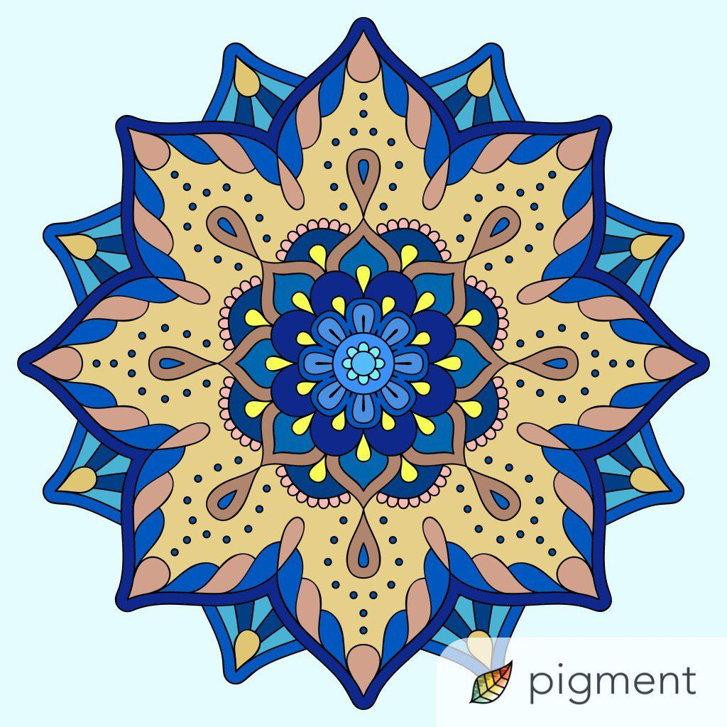Love The Colors That Were Chosen For This Mandala Coloring Page