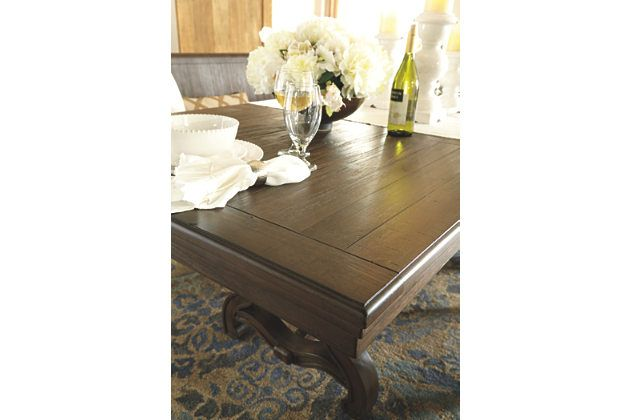 Grayish Brown Wendota Dining Room Table View 6 Extension Table