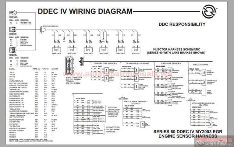 detroit diesel series 60 ddec iv wiring diagram on detroit