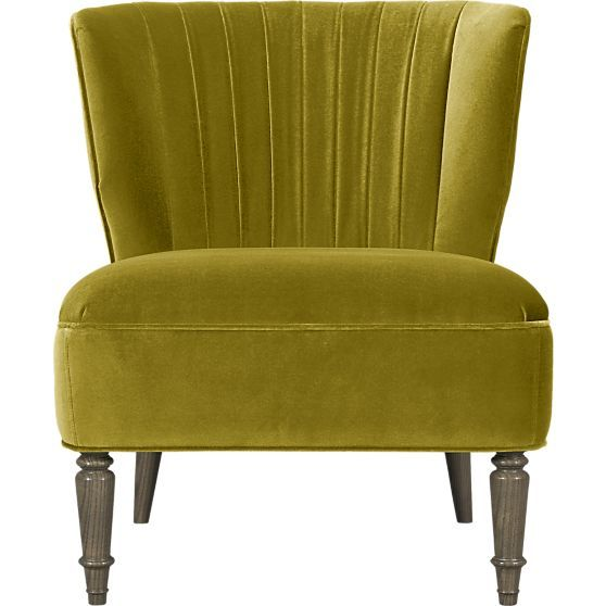 Arietta Chair Crate And Barrel Mustard Velvet Yes