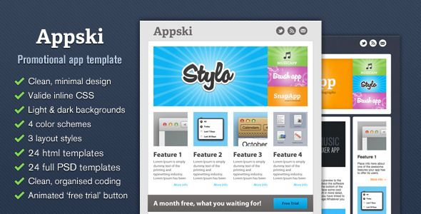 Appski App Promotional Email Template Design Pinterest Email