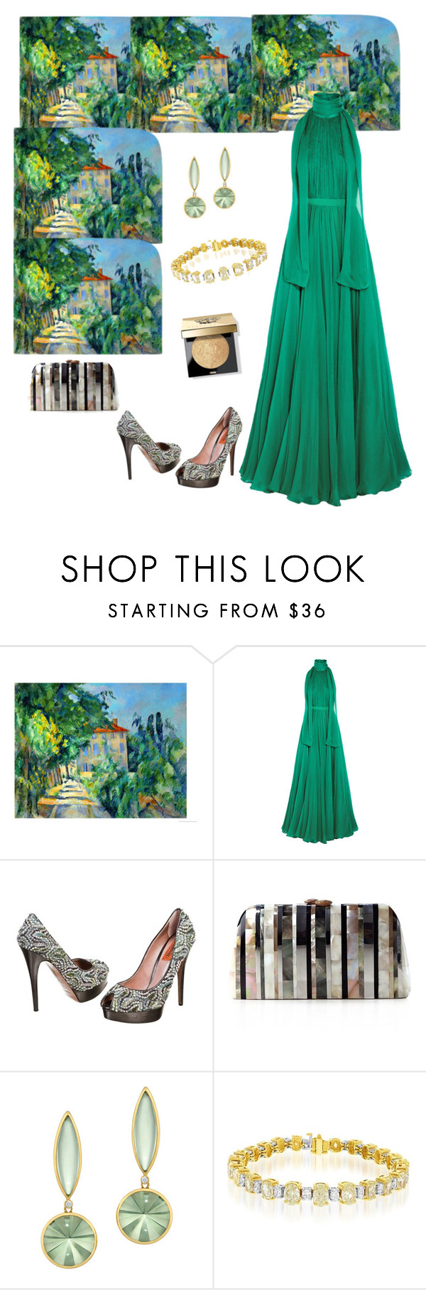 """Artistic Gown💛🌻"" by parnett ❤ liked on Polyvore featuring Alexander McQueen, Missoni, Serpui and Bobbi Brown Cosmetics"