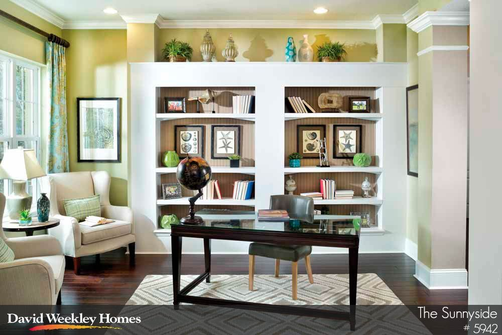 pretty formal study with built in bookshelves the sunnyside