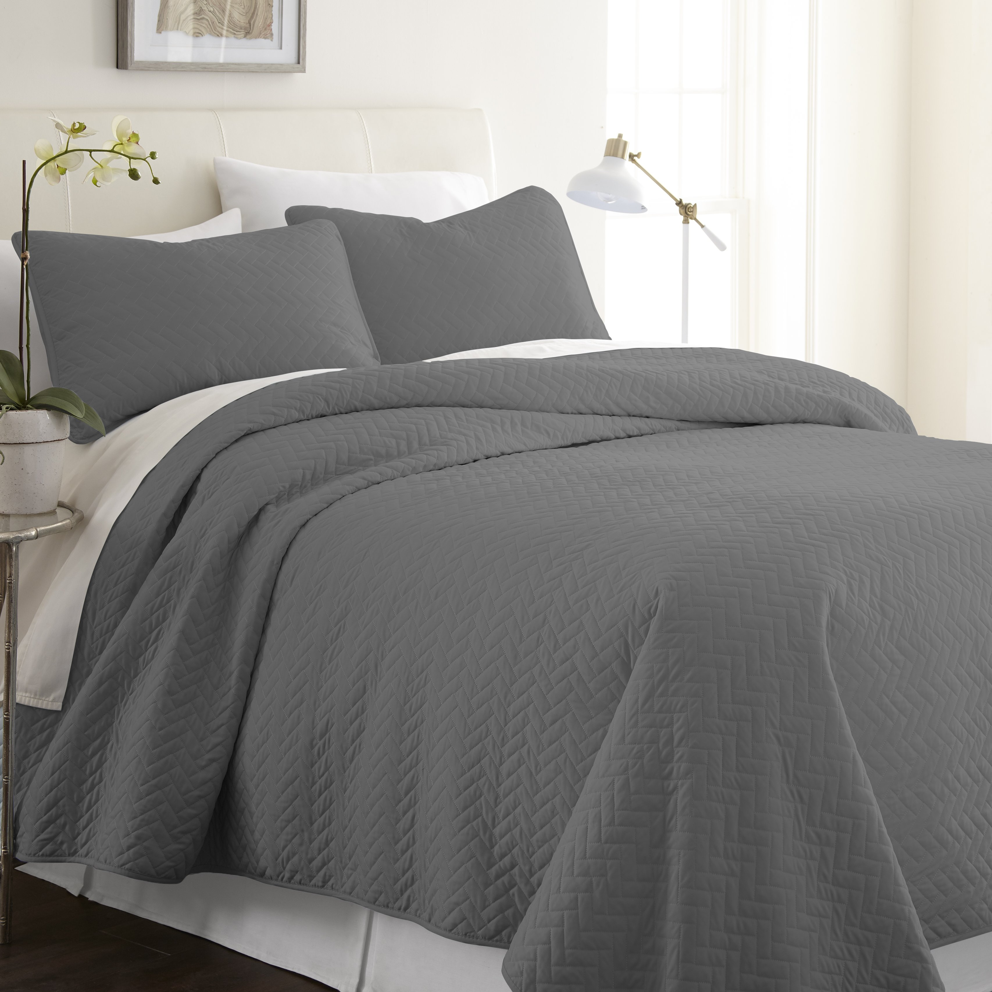 3 Piece Herring Quilted Coverlet Set Quilt Sets Queen Quilt Home Collections