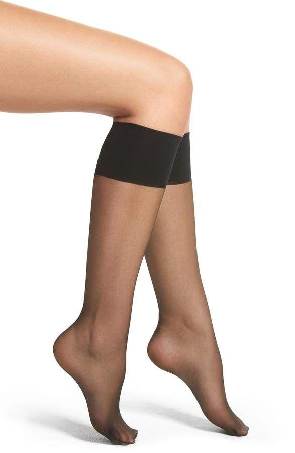 315d5d8992857 Nordstrom 2-Pack Naked Sheer Knee Highs en 2019   Products   Knee ...