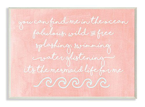 The Kids Room by Stupell Mermaid Life Inspiration Wall Plaque Art *** Click on the image for additional details.