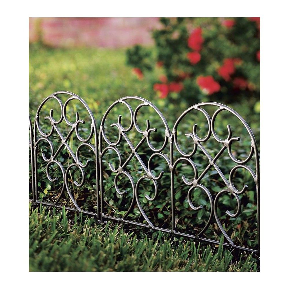 Classic Wrought Iron Garden Scroll Border Edging For Landscaping