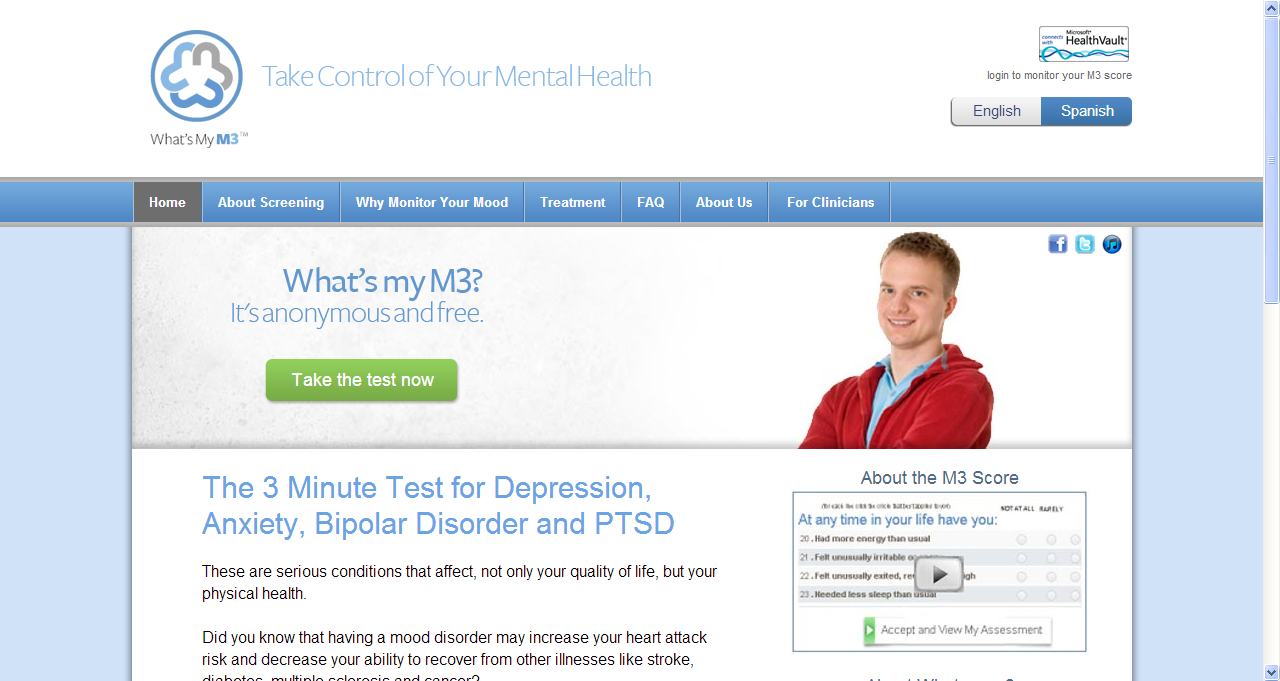 What S My M3 Mood Monitor Three Minute Screening Tool For Anxiety Depression