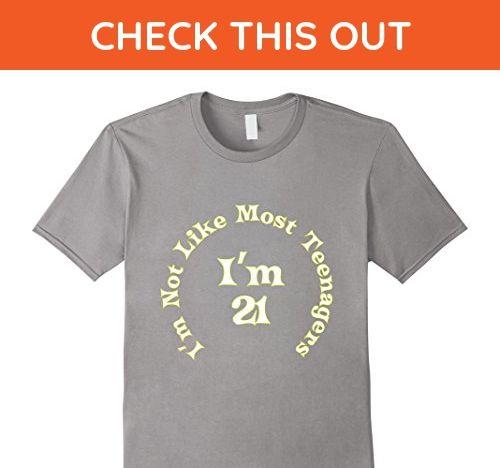 Mens Funny 21st Birthday Gift Present Man Girl 21 Year Old Shirt Medium Slate
