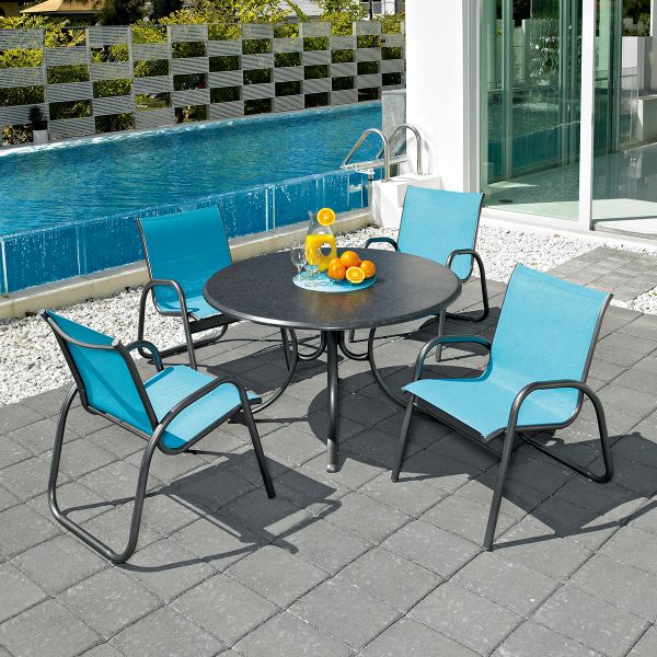Gardenella Sling Dining Outdoor Dining Chairs Outdoor Furniture