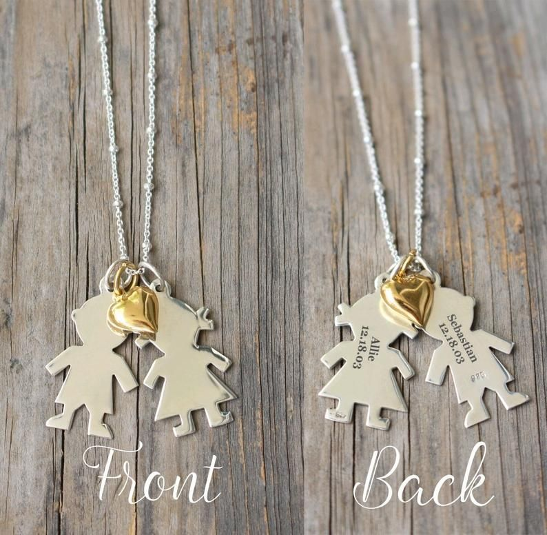 Jewelry for mom mothers necklace custom engraved boy girl