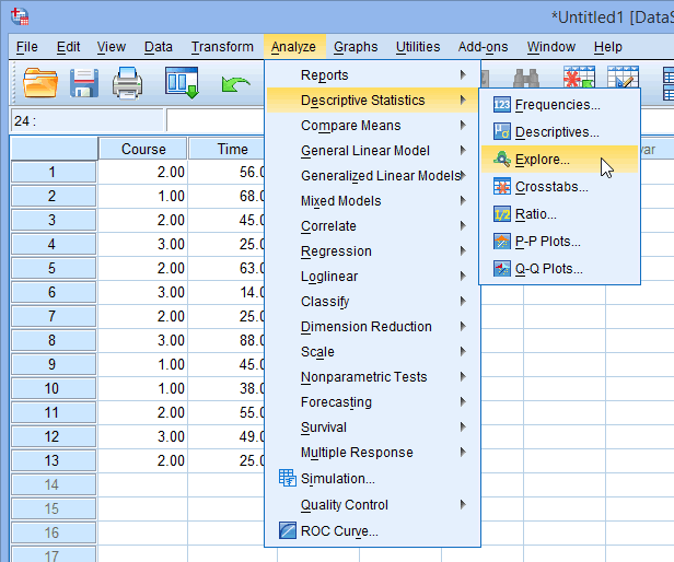 Testing For Normality Using SPSS Statistics